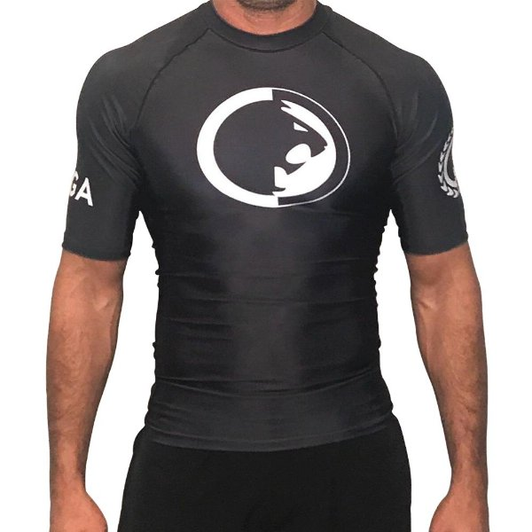 Rash Guard Preta Ryan Gracie - Manga curta