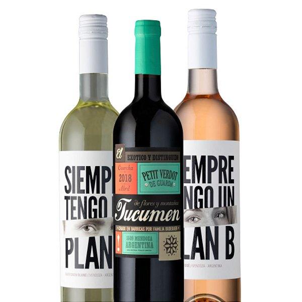 Kit Primavera Tucumen Petit Verdot Reserva + Chardonnay Plan B  + Rose Plan B