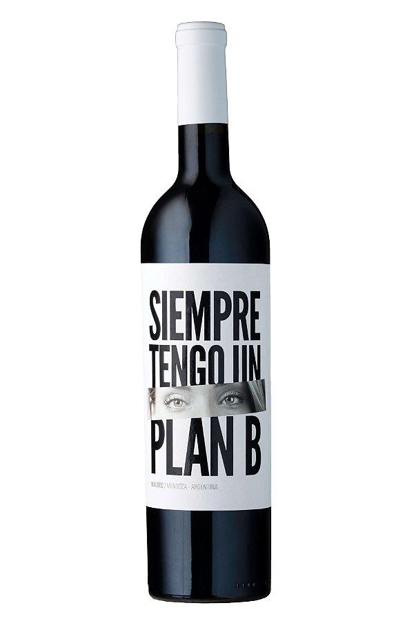 VINHO TINTO ARGENTINO SIEMPRE TENGO UN PLAN B 750ML