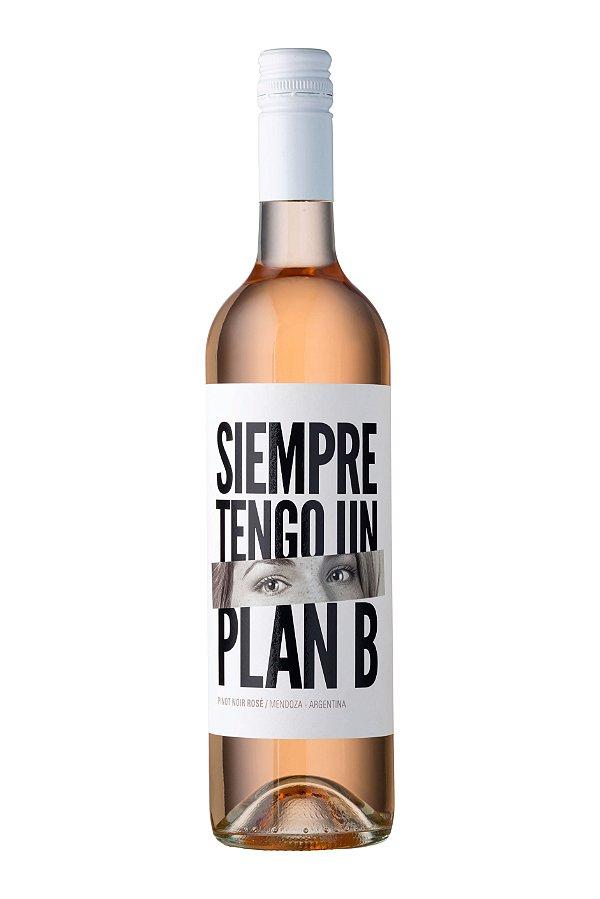 VINHO ARGENTINO SIEMPRE TENGO UN PLAN B ROSÉ PINOT NOIR 2018 750ML
