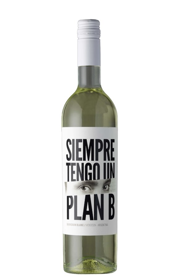 VINHO BRANCO ARGENTINO SIEMPRE TENGO UN PLAN B SAUVIGNON BLANC 2018 750ML