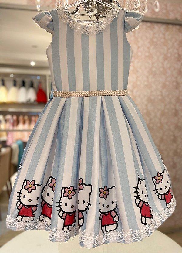 Vestido com estampa Personalizada da Hello Kitty