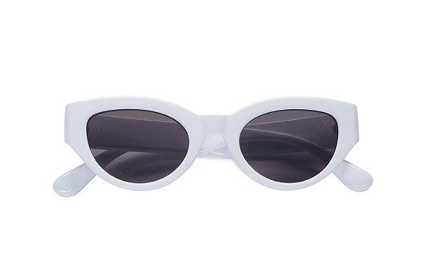 47c411cc91fdd Óculos de Sol Kessy Retrô Sugar Branco - Kessy