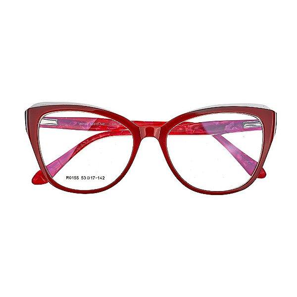 Armação de Grau 760 Vermelho - Kessy - Óculos de Grau, de Sol e ... 3fd63ae66a