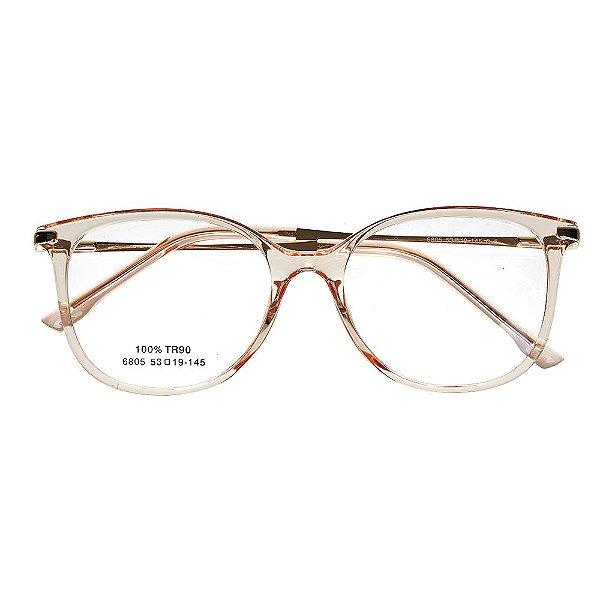 3510ffe665417 Óculos de Grau Kessy 735 Dourado - Kessy