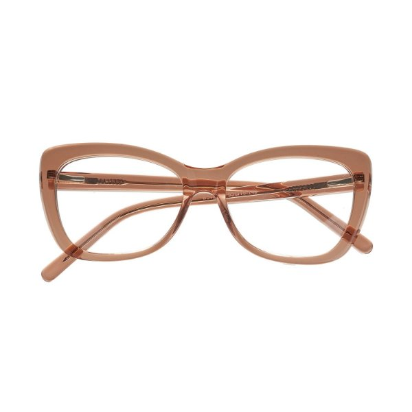 3eccf4863d928 Óculos de Grau Kessy 825 Transparente Marrom - Kessy