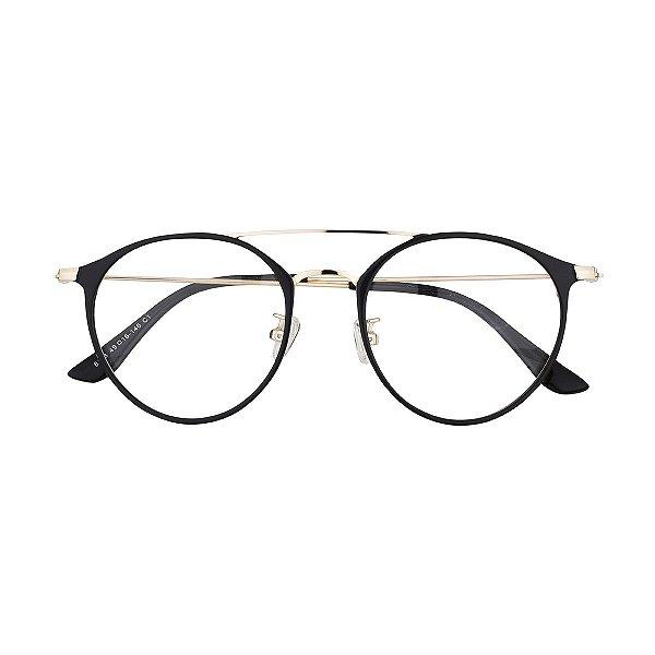 Óculos de Grau Kessy 910 Preto Dourado