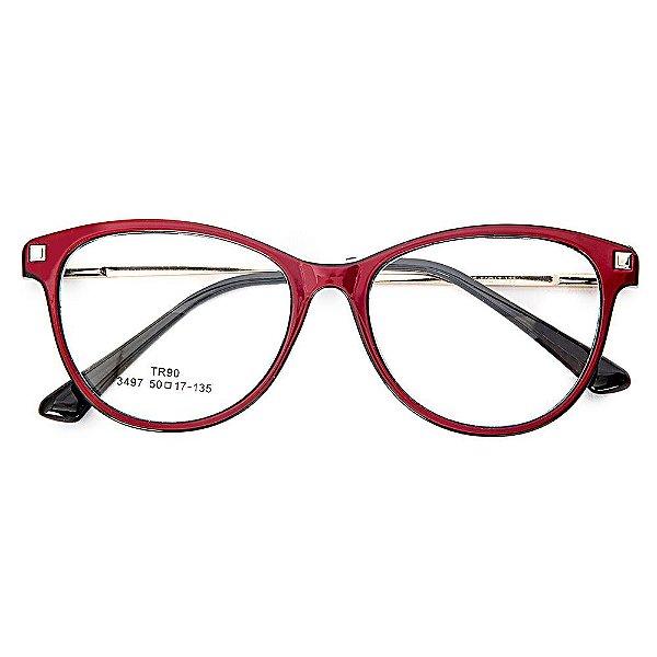 a60e56718 Óculos de Grau Kessy 940 Vinho - Kessy   Compre moda feminina online ...