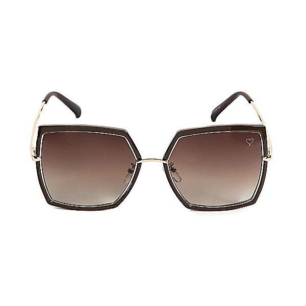 Óculos de Sol Kessy Canvas Marrom