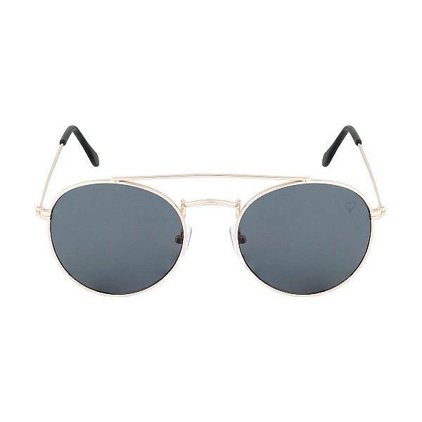 Óculos de Sol Kessy Liz Preto Dourado