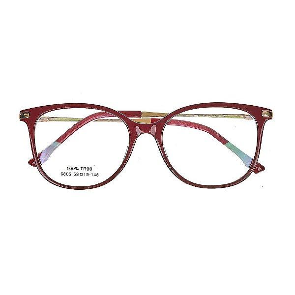 52cbe4a013557 Óculos de Grau Kessy 735 Vinho - Kessy