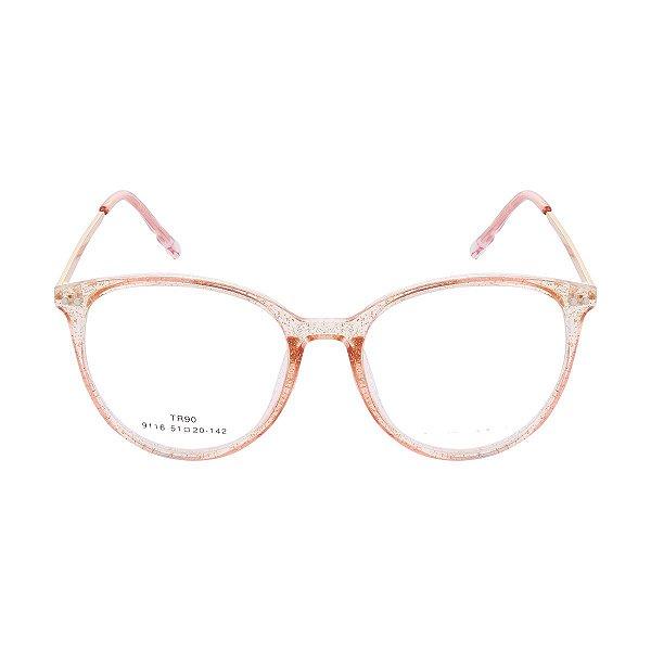 d63eb97b2e214 Óculos de Grau Kessy 945 New Dourado Glitter - Kessy