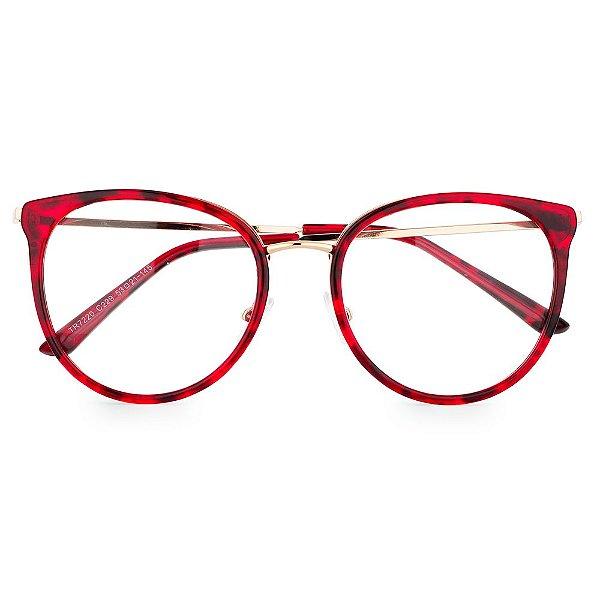 dfe1c1f5c Óculos de Grau Kessy 115 Tartaruga Vermelho - Kessy | Compre moda ...
