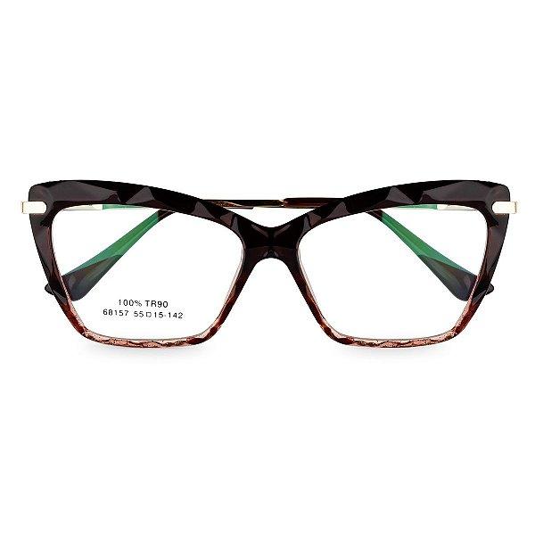 Óculos de Grau Kessy 130 Marrom