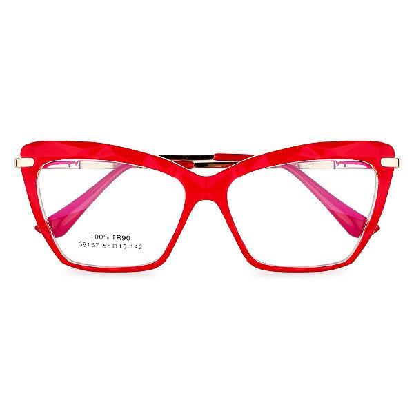 Óculos de Grau Kessy 130 Vermelho