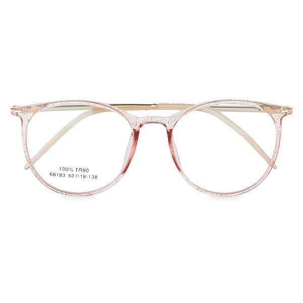 Óculos de Grau Kessy 135 Dourado Glitter