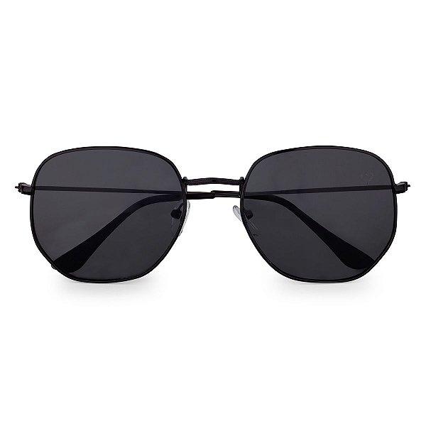 Óculos de Sol Kessy Hexagonal Preto