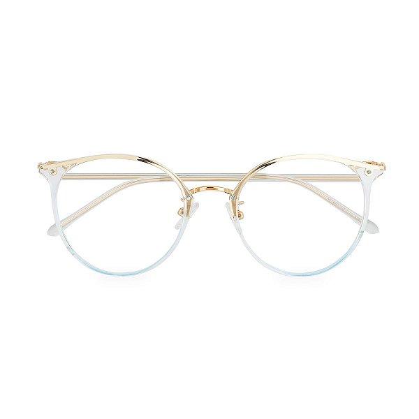 Óculos de Grau Kessy 165 Transparente Azul
