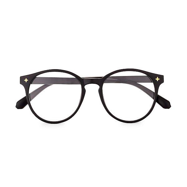 Óculos de Grau Kessy Clip On Preto Fosco
