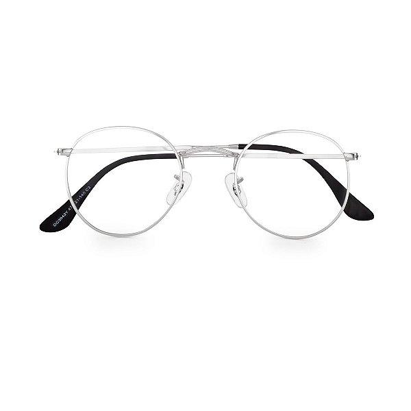 Óculos de Grau Kessy Clip On Round Prata