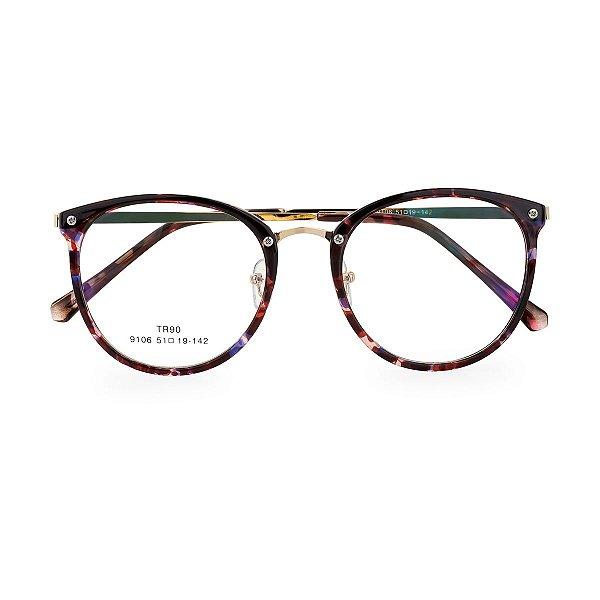 Óculos de Grau Kessy 100 Tartaruga Escura
