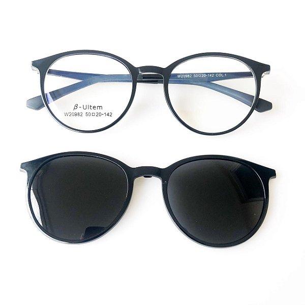 Óculos de Grau Kessy Clip On 295 Preto
