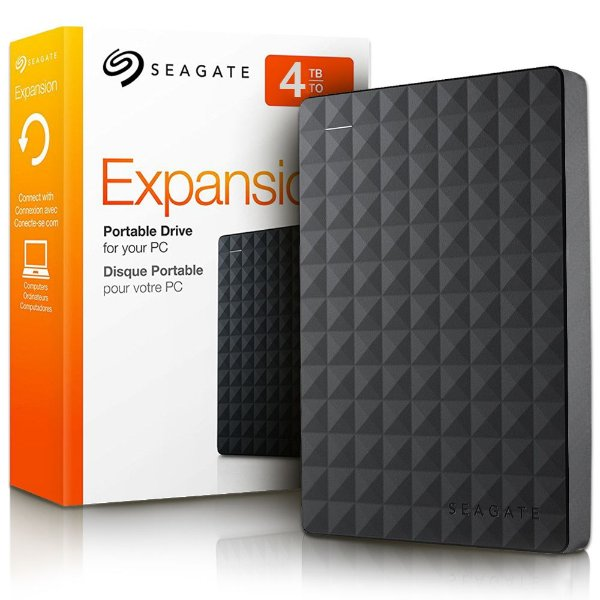 HD Seagate Externo Portátil Expansion USB 3.0 4TB Preto STEA4000400 (Serve para PS4)