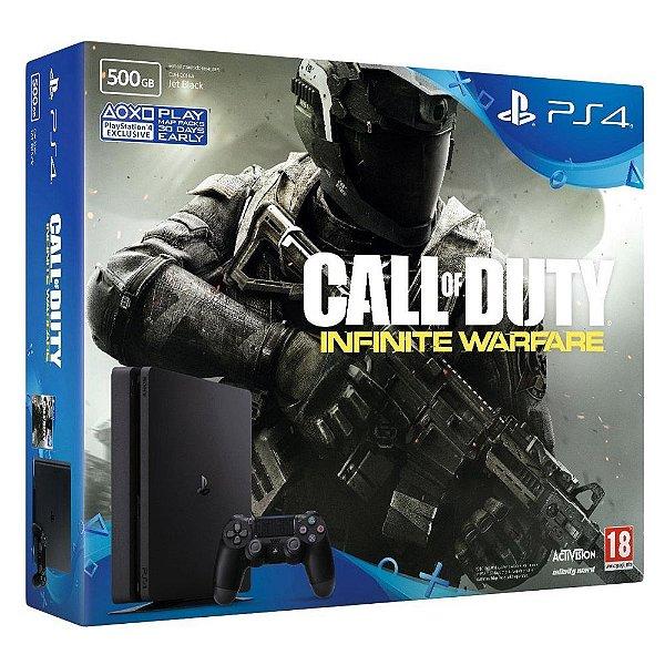 Console Playstation 4 500gb Slim com Jogo Call Of Duty  - Sony
