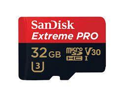 Cartão de Memória SanDisk Micro SD 32GB Extreme Pro Classe 10 Vel. até 95MB/s SDSQXXG-032G-GN6MA