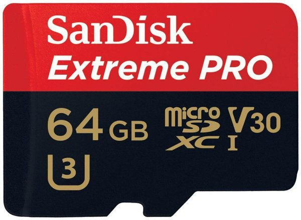 Cartão de Memória SanDisk Micro SD 64GB Extreme Pro Classe 10 Vel. até 95MB/s SDSQXXG-064G-GN6MA