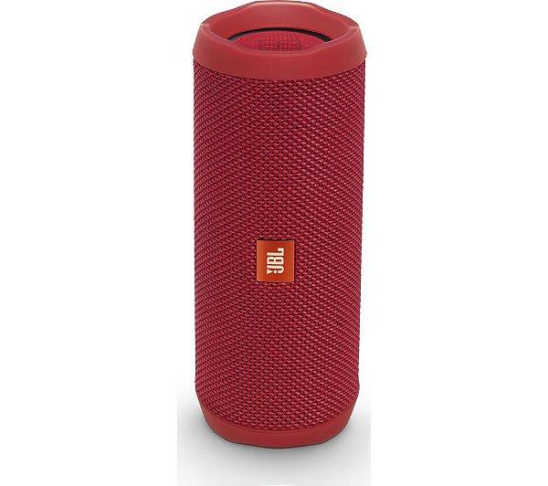 Caixa de Som Portátil Bluetooth Stereo Speaker JBL Flip 4 Vermelho À Prova d'agua