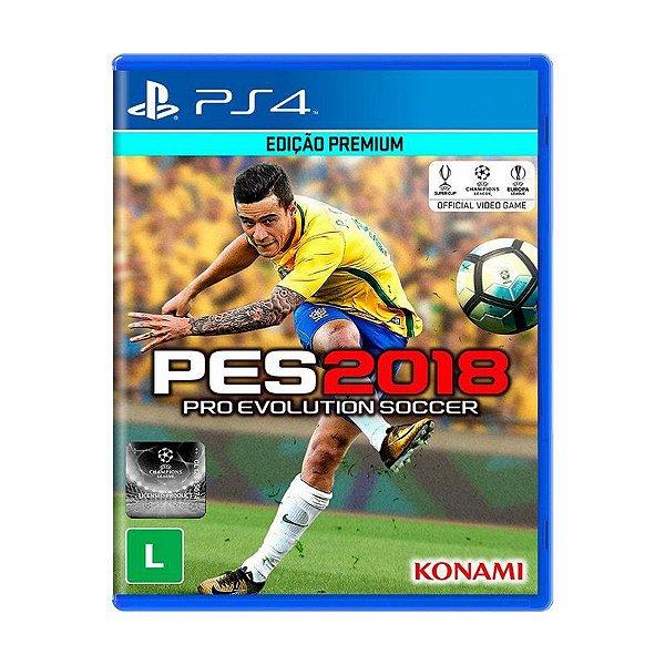 Jogo Pro Evolution Soccer 2018 (PES 2018) - PS4