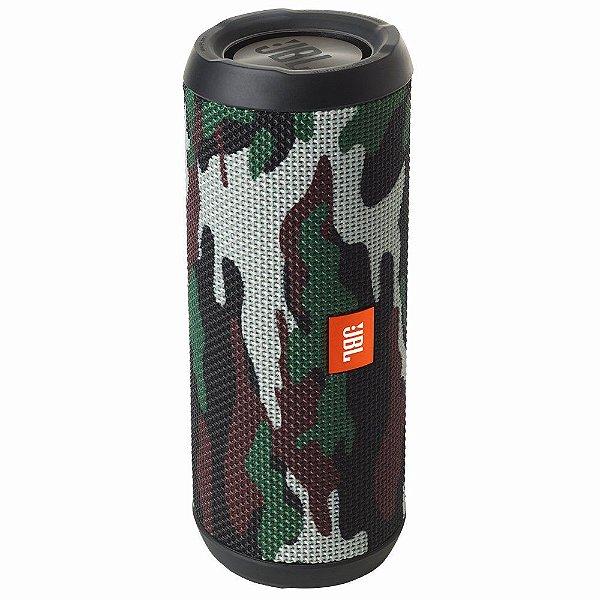 Caixa de Som Portátil Bluetooth Stereo Speaker JBL Flip 4 Camuflada À Prova d'agua