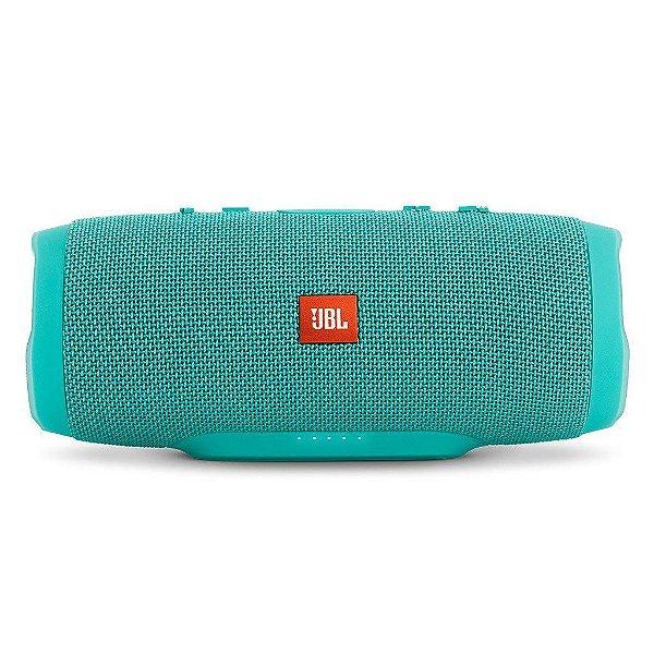Caixa de Som Portátil Bluetooth JBL Charge 3 verde teal à prova d´agua
