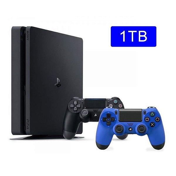 Console Playstation 4 Slim 1TB com 2 controles - Sony