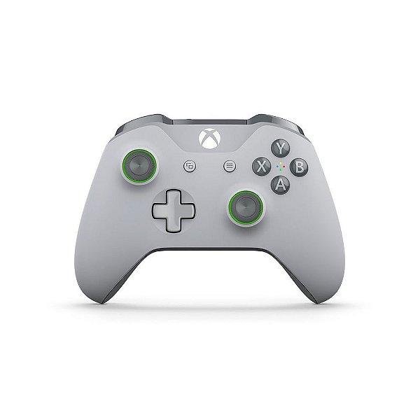 Controle Xbox One S Wireless Bluetooth Grooby Cinza e Verde - Microsoft