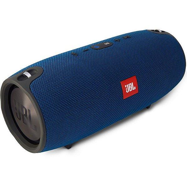 Caixa de som Bluetooth JBL A Prova de respingos de água 2x20W Xtreme Azul