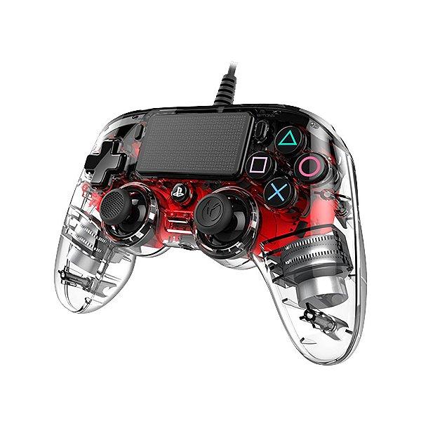 Controle NACON Compacto para Playstation 4 (PS4) iluminado Vermelho