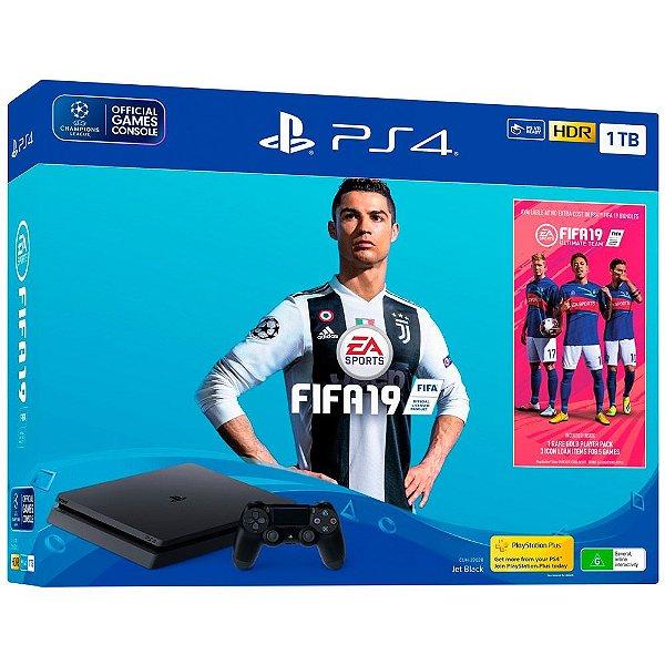 Console PlayStation 4 Slim 1TB com Fifa 19 - Sony