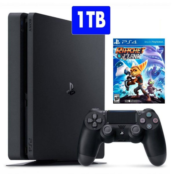 Console PlayStation 4 Slim 1TB com jogo Ratchet & Clank PS4 - Sony