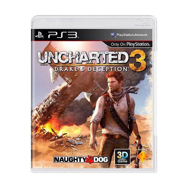 Jogo Uncharted 3: Drake's Deception - PS3 (usado)
