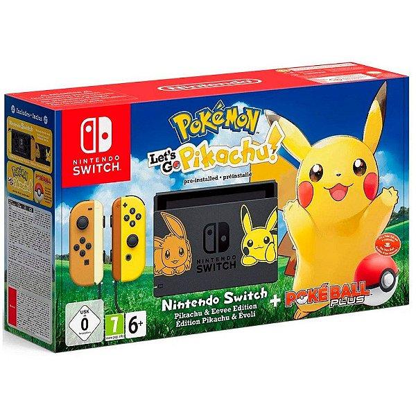 Console Nintendo Switch 32GB Bundle Pokemon Lets Go Pikachu