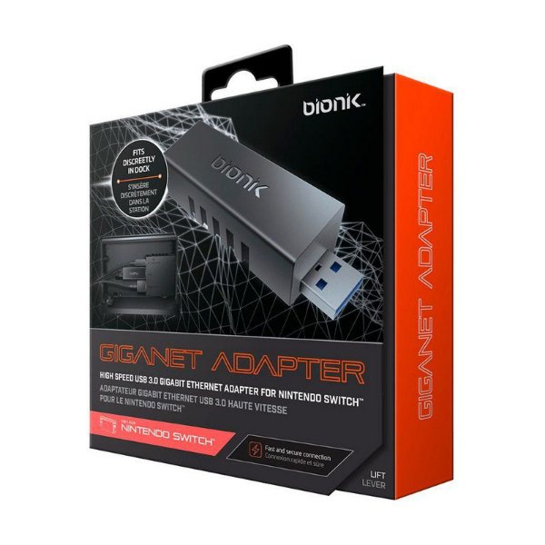 Adaptador Ethernet Bionik USB 3.0 Giganet - Switch