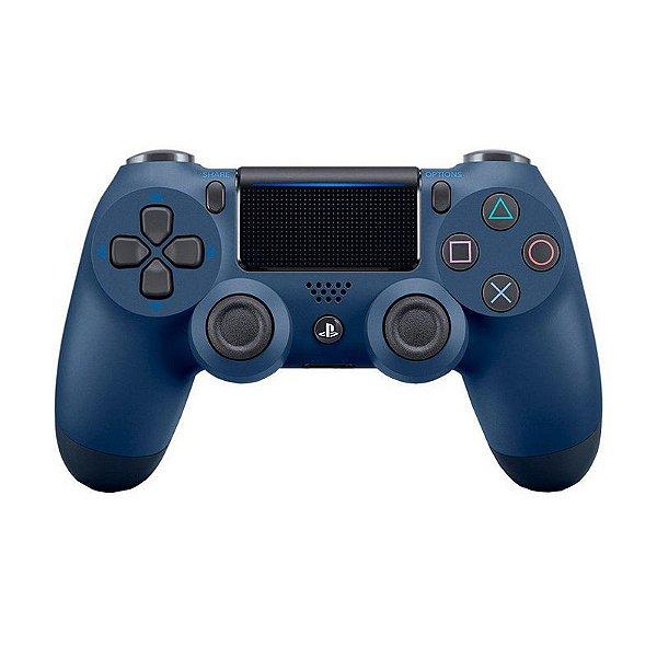 Controle Sony Dualshock 4 Midnight Blue/Azul Escuro sem fio (Com led frontal) - PS4