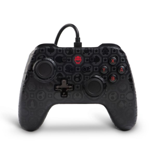 Controle Power A Wired Shadow Bowser Super Mario Bros - Nintendo Switch