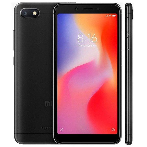 """Smartphone Xiaomi Redmi 6A 32GB LTE Dual Sim 5.45"""" Câm.13MP+ 5MP - Preto"""