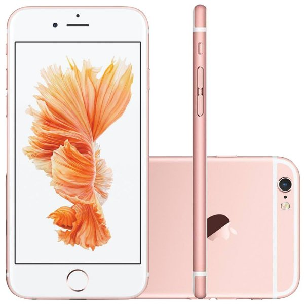 "iPhone 6s Apple 32GB Ouro Rosa Tela Retina HD 4,7"" 3D Touch Câmera 12MP - Apple"