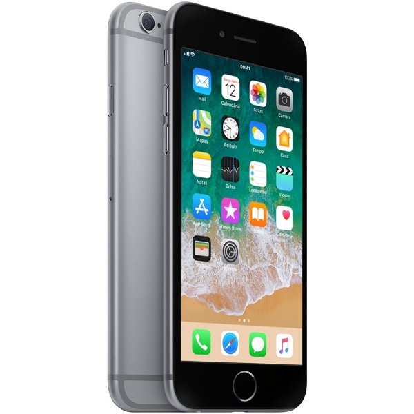 "iPhone 6s Apple 32GB Cinza Espacial Tela Retina HD 4,7"" 3D Touch Câmera 12MP - Apple"