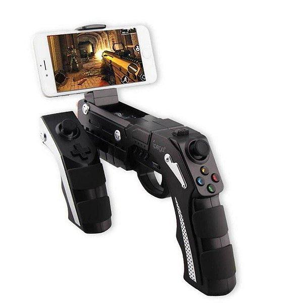 Controle Pistola para celular Bluetooth The Phanton Shox PG-9057 para iPhone iPad Android - Ipega