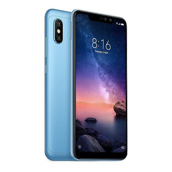 """Smartphone Xiaomi Redmi Note Pro 6 64GB LTE Dual Sim 6.26"""" Câm.12/5MP+ 20/2MP - Azul"""
